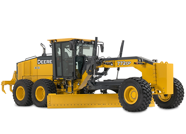 Motor Grader with six-wheel drive | 772G/GP | John Deere US