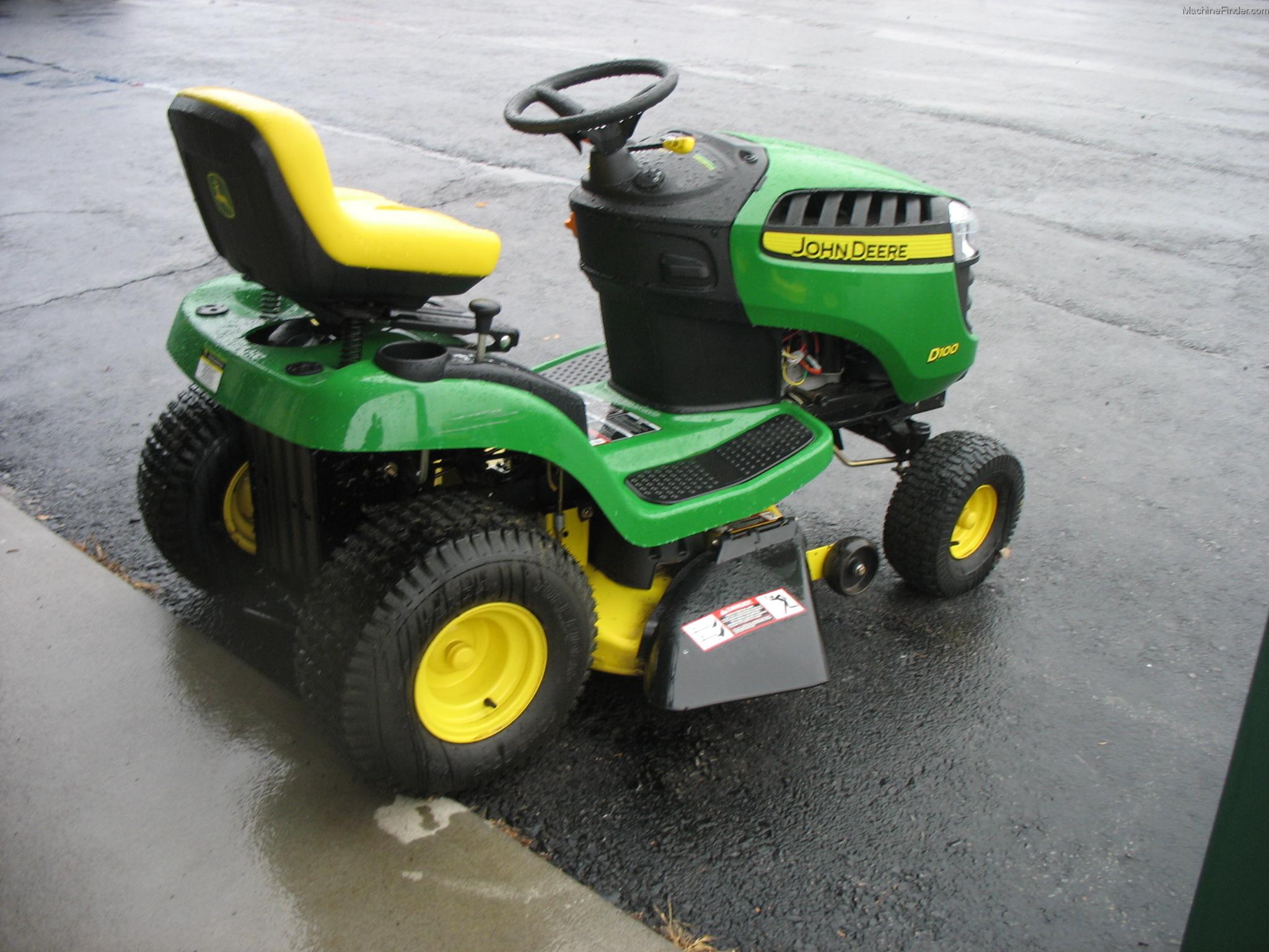 John Deere D100 Specifications : John deere d lawn tractor series