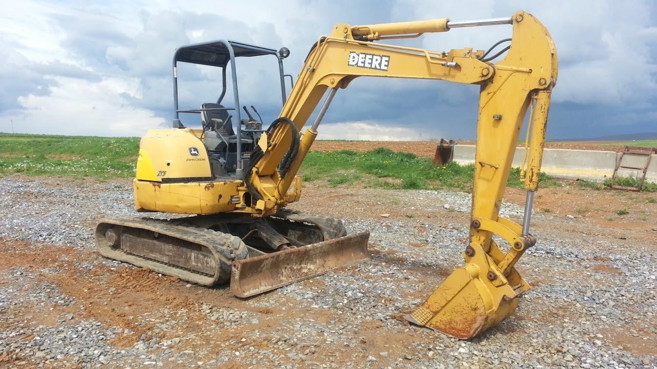 John Deere 50C Excavator - YouTube