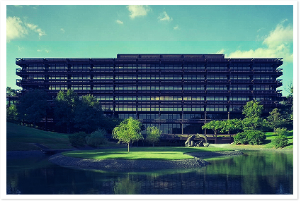 John Deere Corporate Headquarters Building Designed By Eero Saarinen